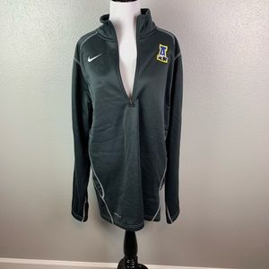 Nike therma fit long sleeve v neck zip pull over